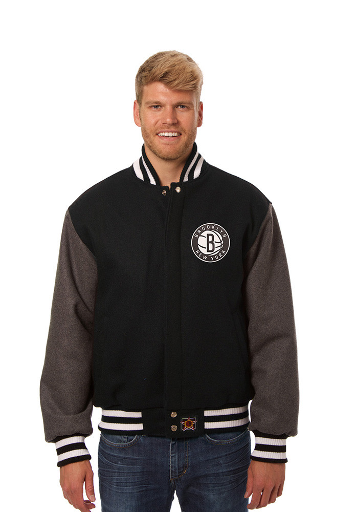 Brooklyn Nets Mens Black all wool jacket Heavyweight Jacket - Image 1