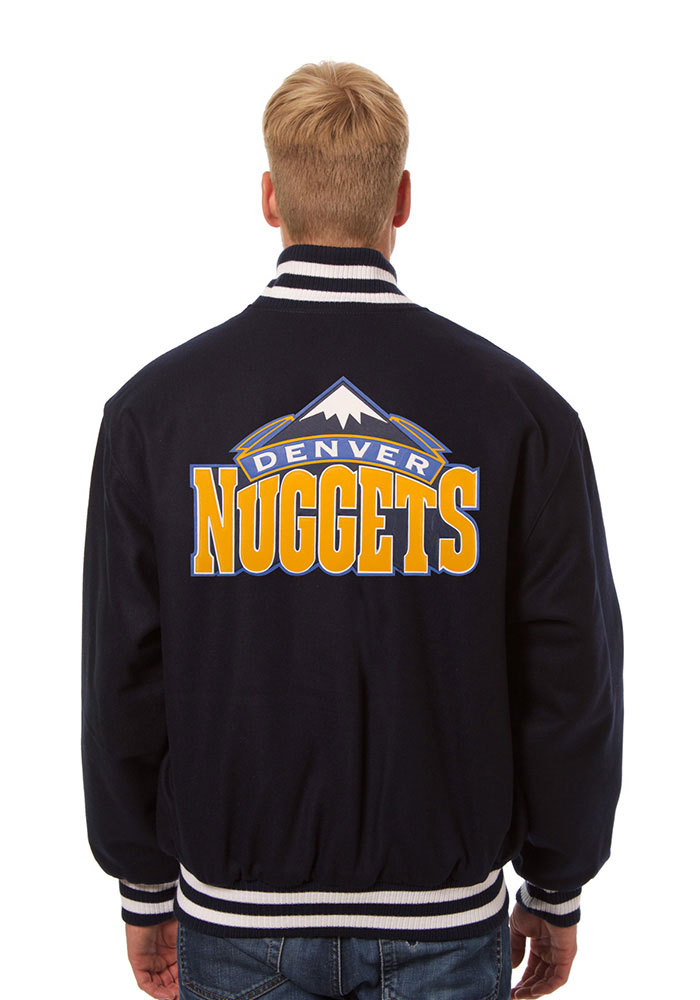 Denver Nuggets Mens Navy Blue all wool jacket Heavyweight Jacket - Image 2