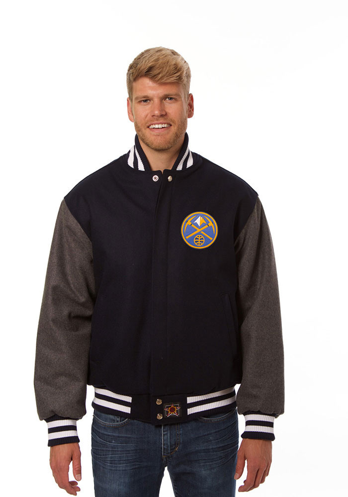 Denver Nuggets Mens Blue all wool jacket Heavyweight Jacket - Image 1