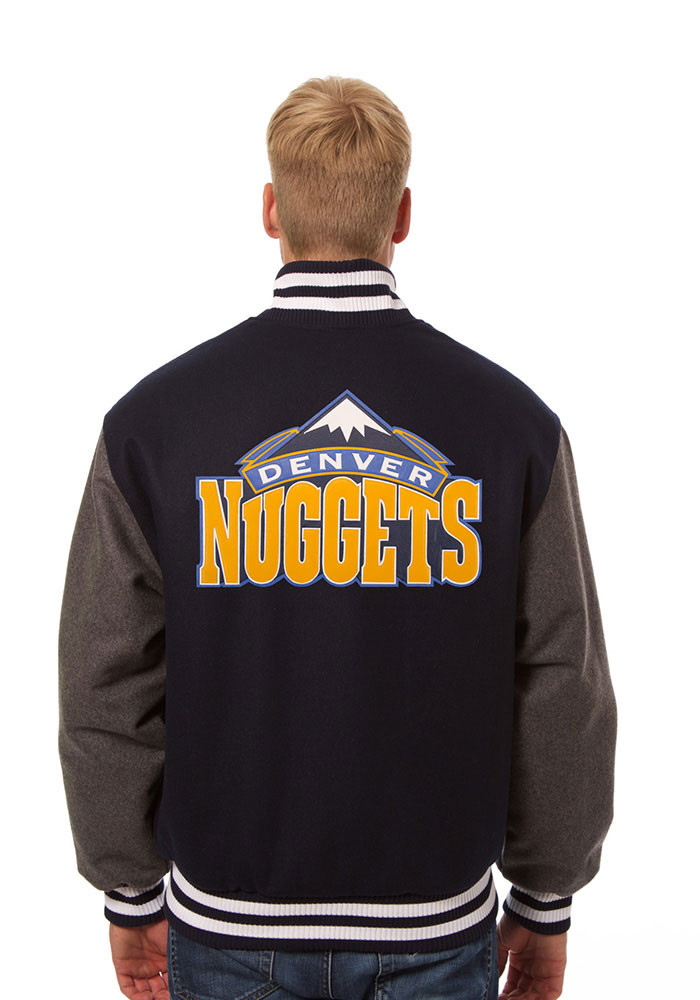 Denver Nuggets Mens Blue all wool jacket Heavyweight Jacket - Image 2