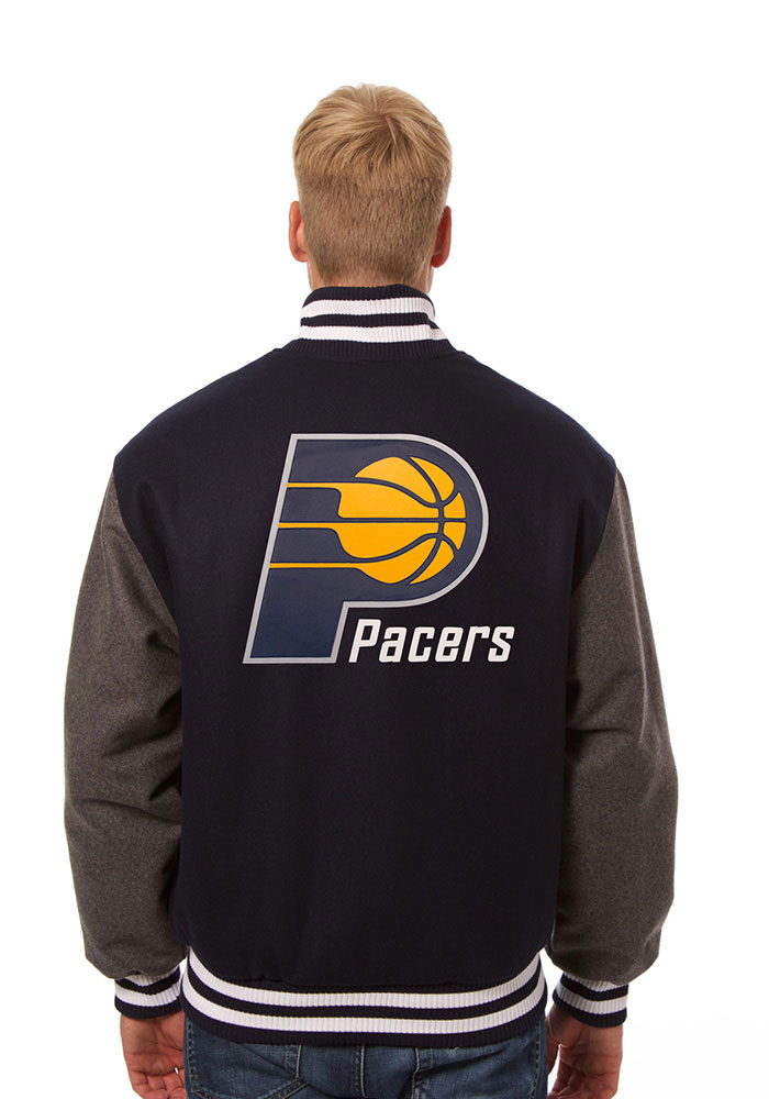Indiana Pacers Mens Blue all wool jacket Heavyweight Jacket - Image 2