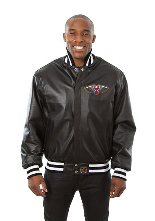 New Orleans Mens Black all leather jacket Heavyweight Jacket