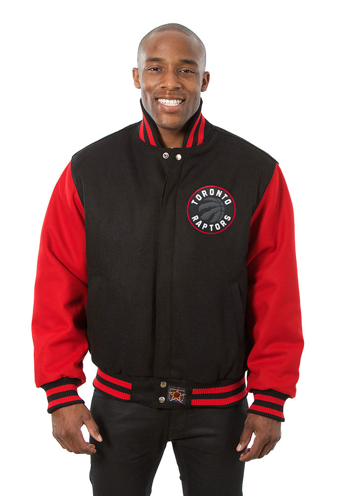 Toronto Raptors Mens Black all wool jacket Heavyweight Jacket - Image 1
