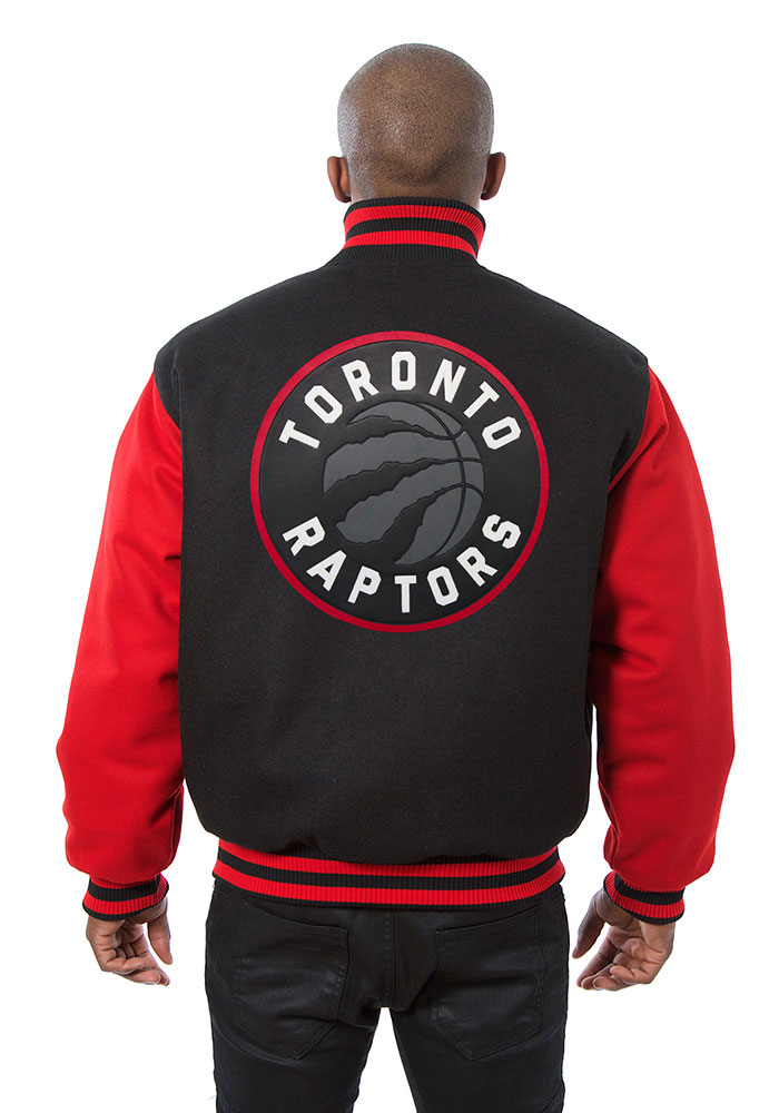 Toronto Raptors Mens Black all wool jacket Heavyweight Jacket - Image 2