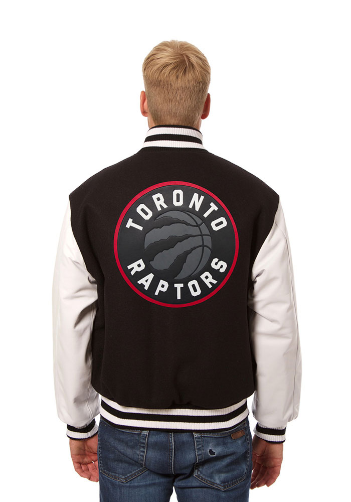 Toronto Raptors Mens Black wool body, leather sleeve jacket Heavyweight Jacket - Image 2