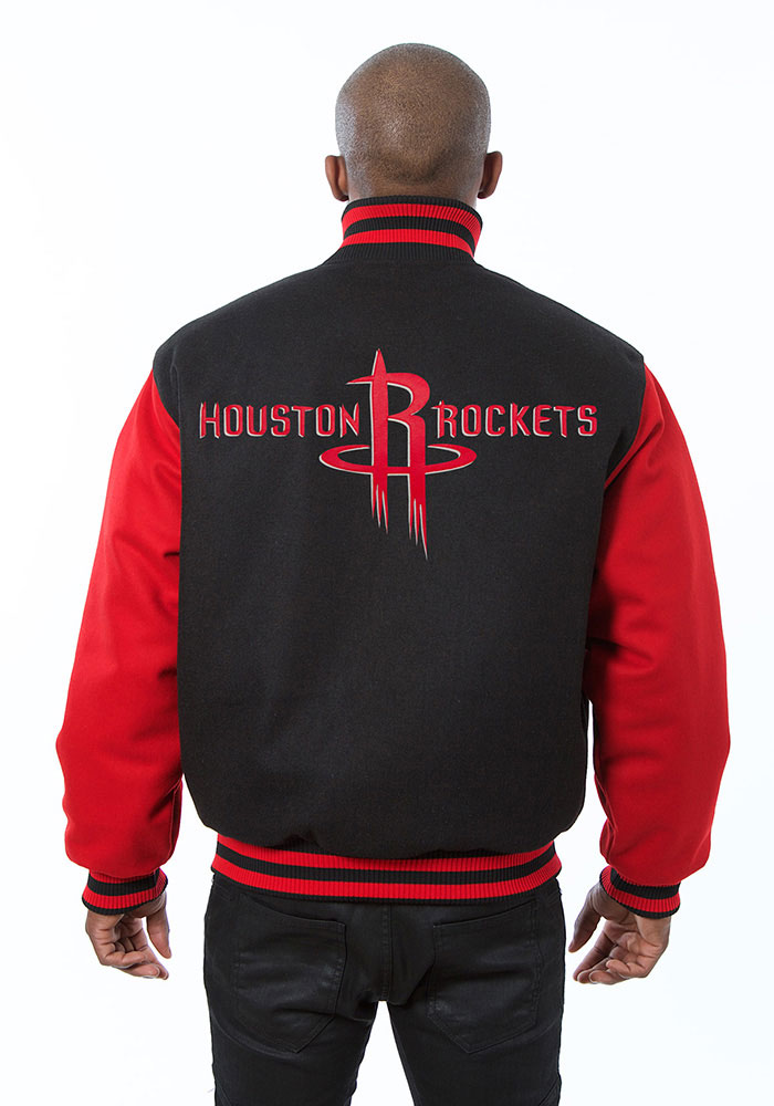 Houston Rockets Mens Black all wool jacket Heavyweight Jacket - Image 2