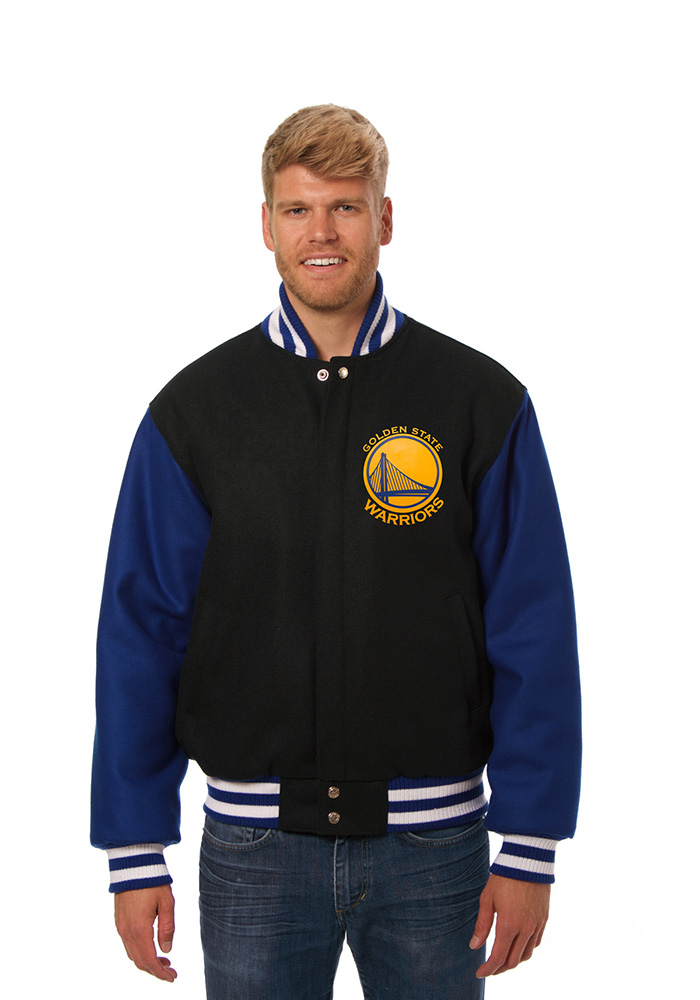 Golden State Warriors Mens Black all wool jacket Heavyweight Jacket - Image 1