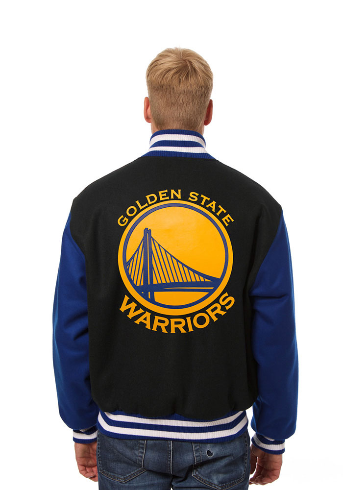 Golden State Warriors Mens Black all wool jacket Heavyweight Jacket - Image 2