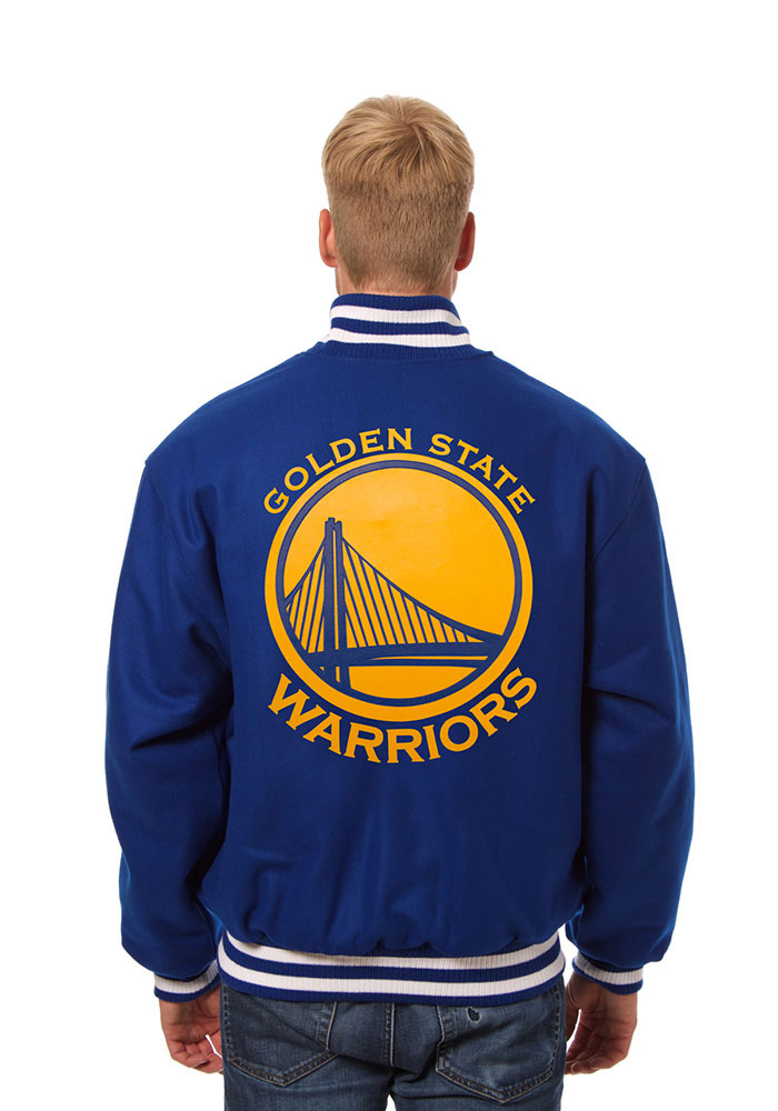 Golden State Warriors Mens Blue all wool jacket Heavyweight Jacket - Image 2