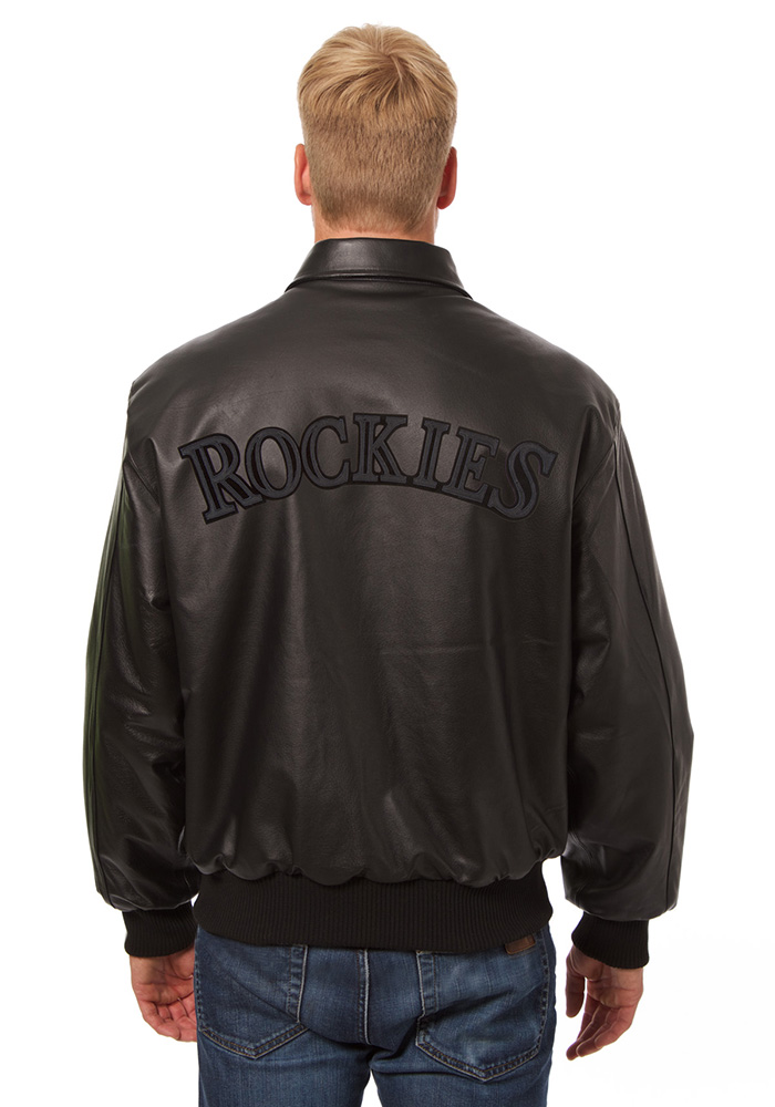 Colorado Rockies Mens Black all leather jacket Heavyweight Jacket - Image 2