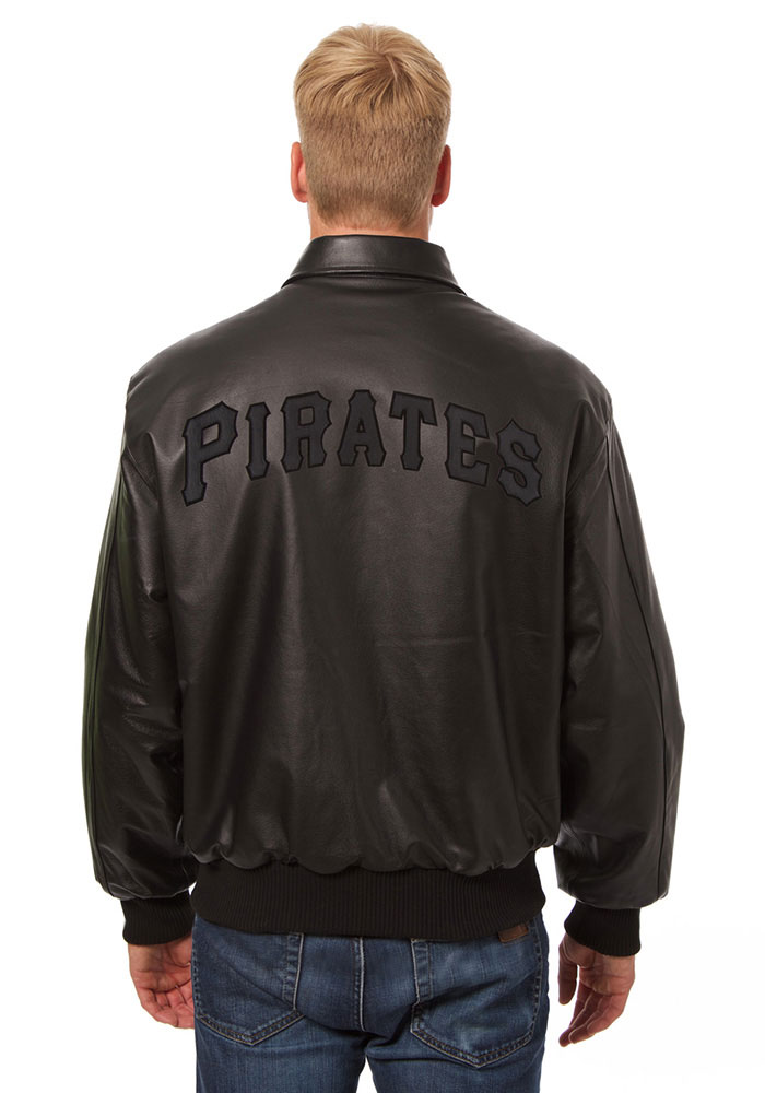 Pittsburgh Pirates Mens Black all leather jacket Heavyweight Jacket - Image 2