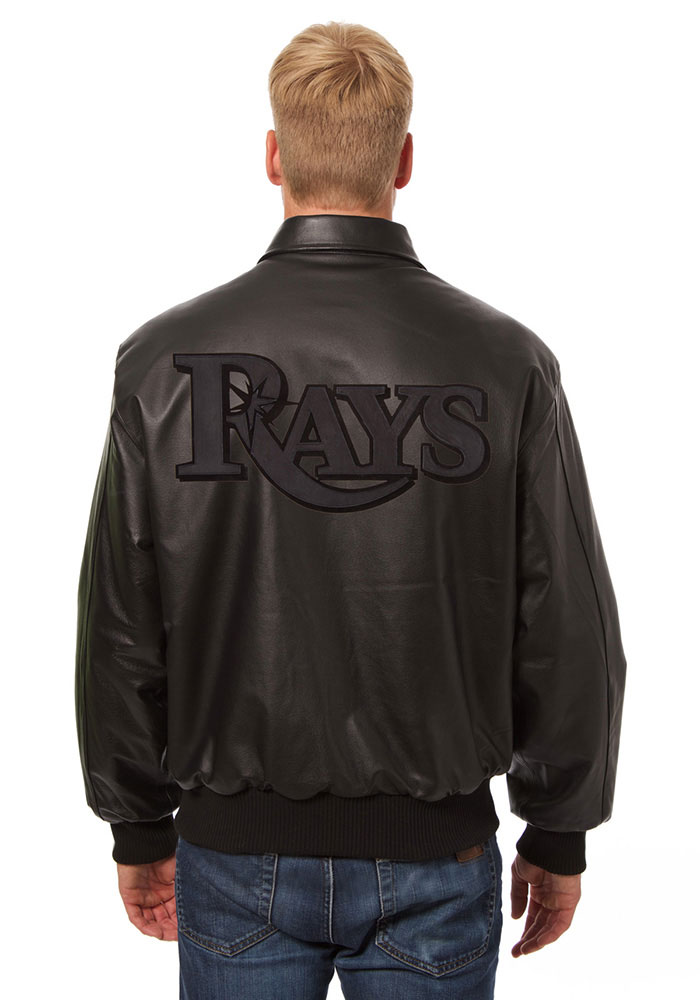 Tampa Bay Rays Mens Black All leather jacket Heavyweight Jacket - Image 2