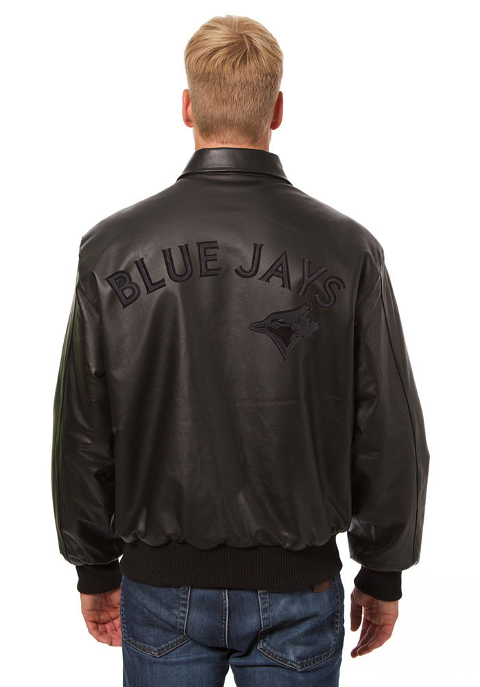 Toronto Blue Jays Mens Black All leather jacket Heavyweight Jacket - Image 2