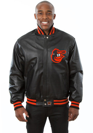 Baltimore Mens Black All leather jacket Heavyweight Jacket