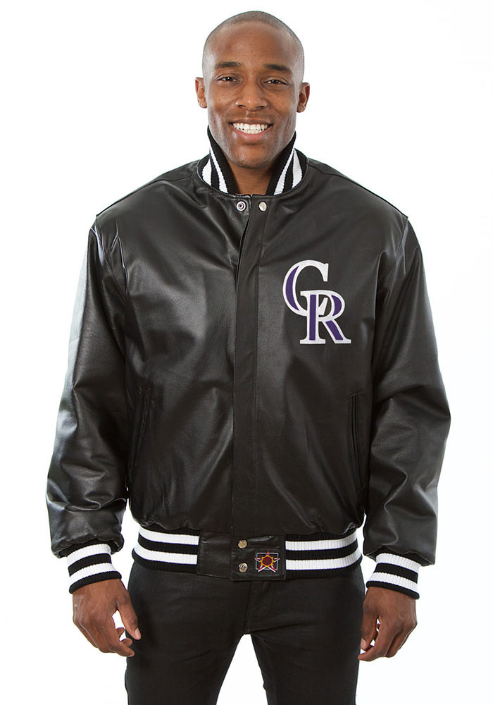 Colorado Rockies Mens Black All leather jacket Heavyweight Jacket - Image 1