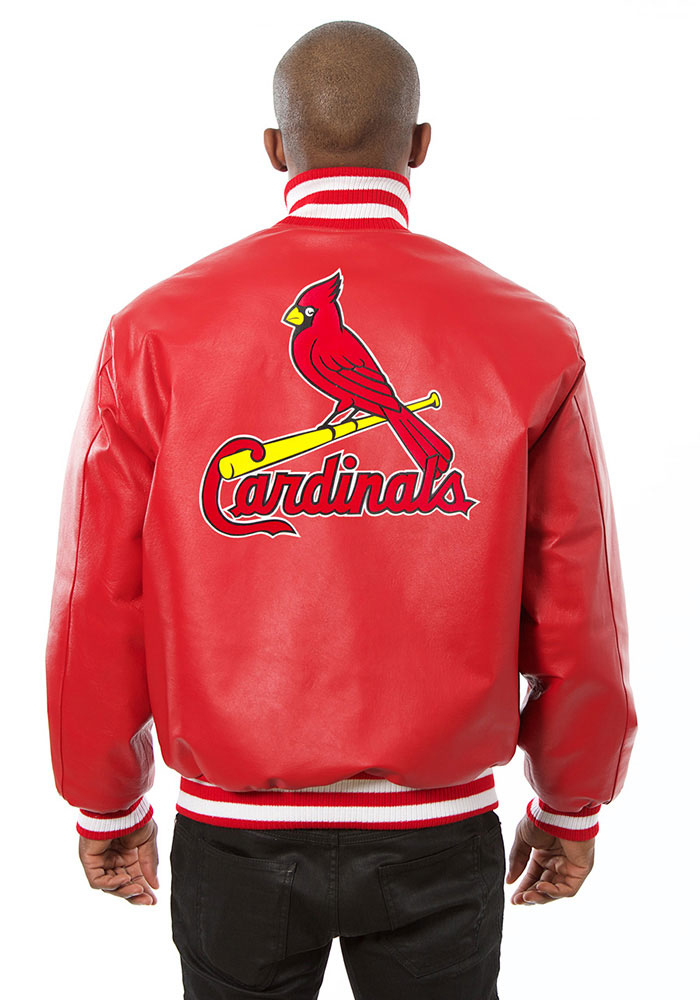 St. Louis Cardinals Mens Red All leather jacket Heavyweight Jacket - Image 2