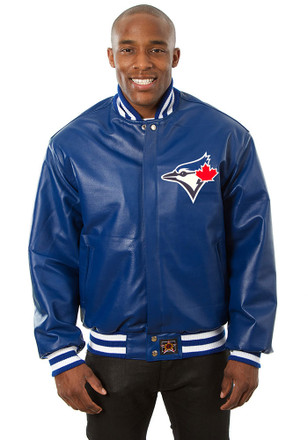 Toronto Mens Blue All leather jacket Heavyweight Jacket