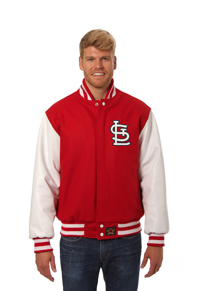 St. Louis Cardinals Mens Red Wool body, leather sleeve jacket Heavyweight Jacket - Image 1