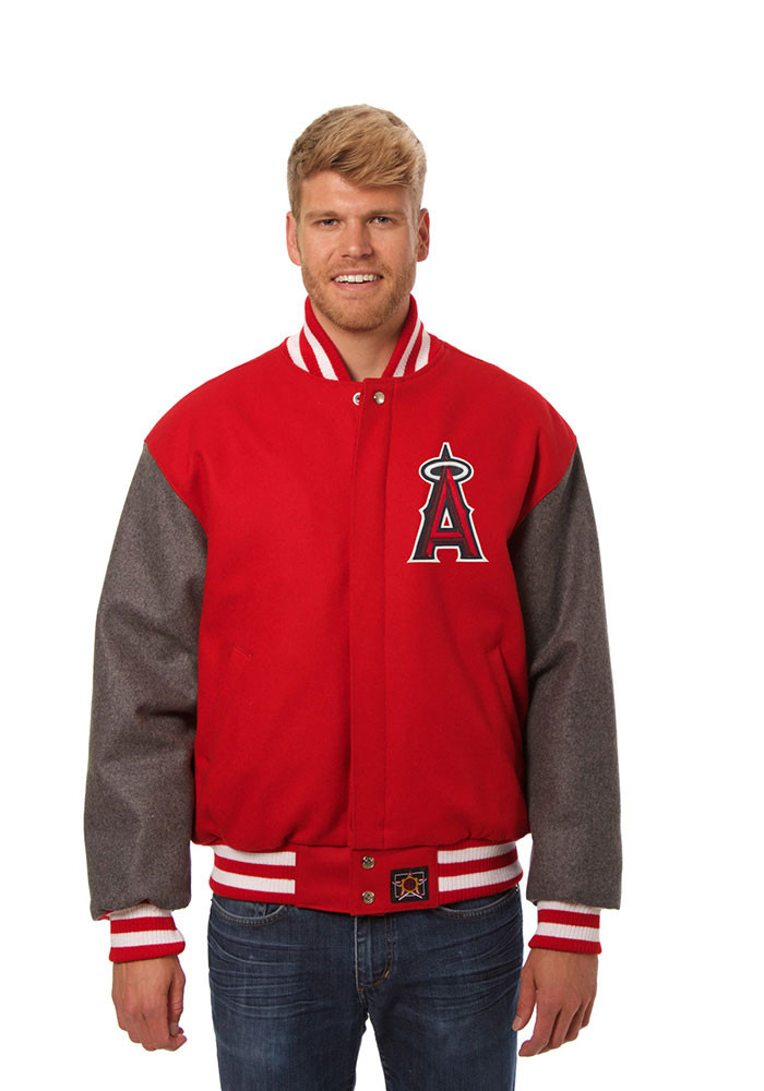 Los Angeles Angels Mens Red All wool jacket Heavyweight Jacket - Image 1