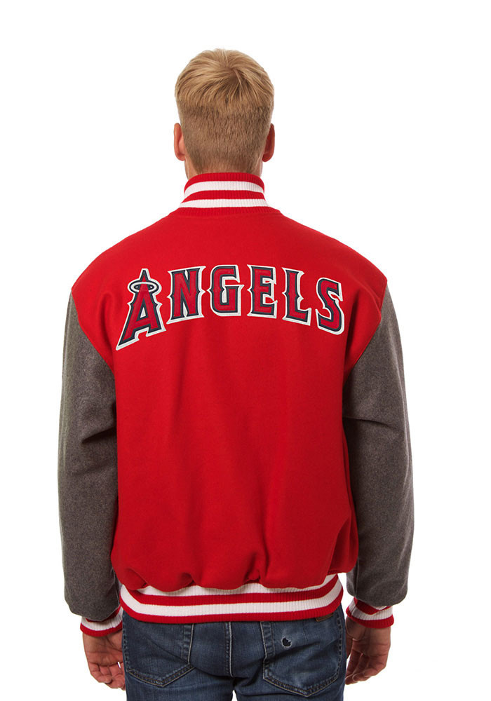 Los Angeles Angels Mens Red All wool jacket Heavyweight Jacket - Image 2