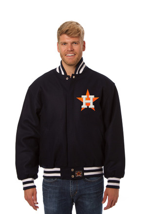 Houston Mens Navy Blue All Wood Jacket Heavyweight Jacket