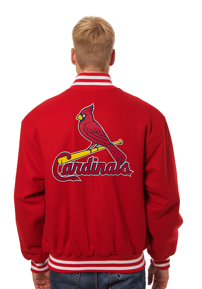 St. Louis Cardinals Mens Red All wool jacket Heavyweight Jacket - Image 2