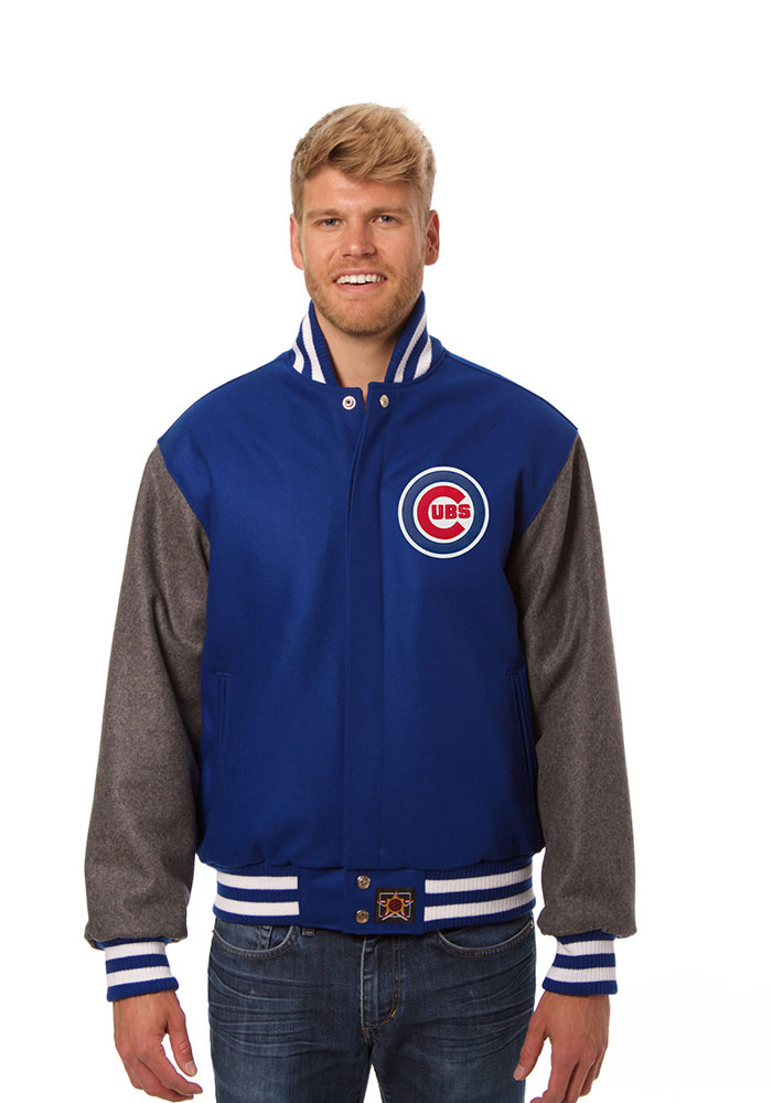 Chicago Cubs Mens Blue All wool jacket Heavyweight Jacket - Image 1