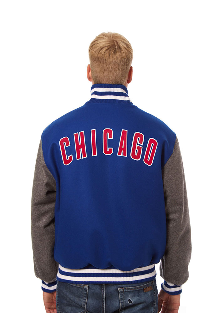 Chicago Cubs Mens Blue All wool jacket Heavyweight Jacket - Image 2