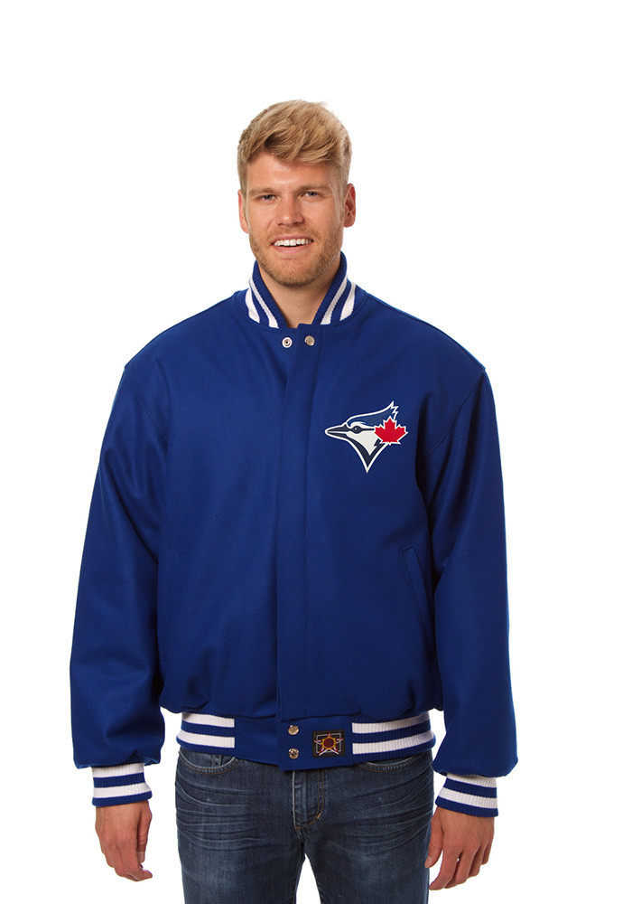 Toronto Blue Jays Mens Blue All wool jacket Heavyweight Jacket - Image 1