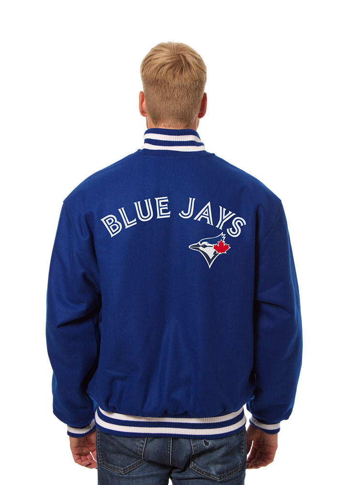 Toronto Blue Jays Mens Blue All wool jacket Heavyweight Jacket - Image 2