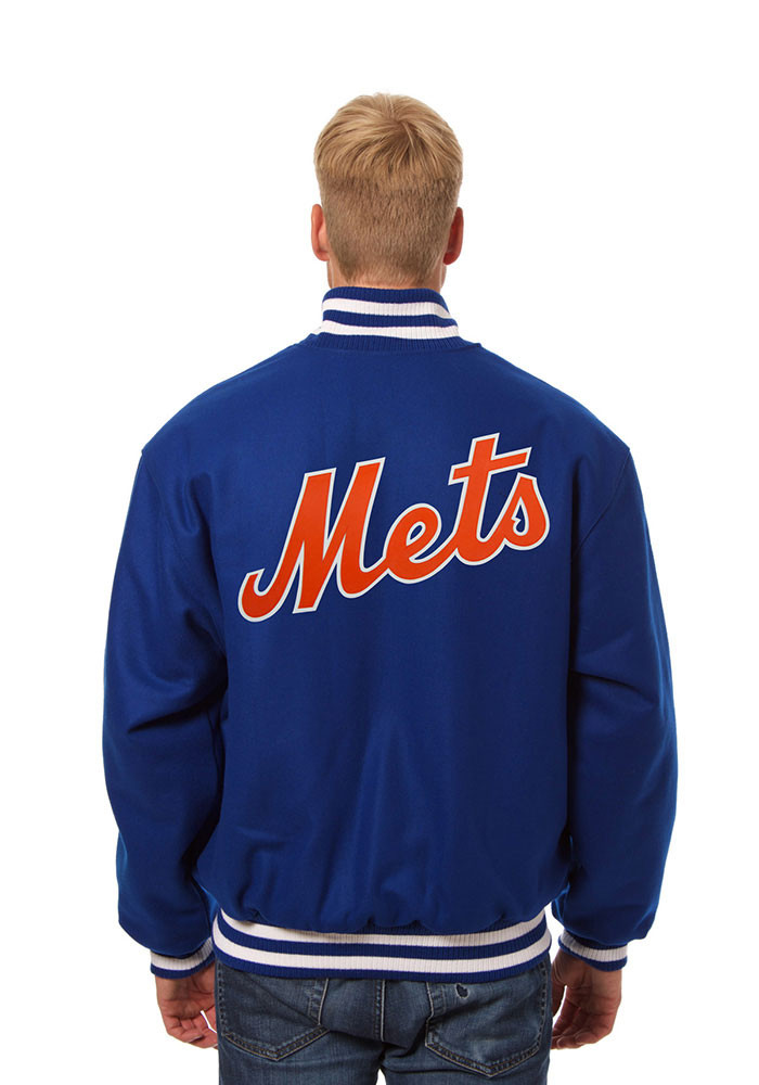 New York Mets Mens Blue All wool jacket Heavyweight Jacket - Image 2