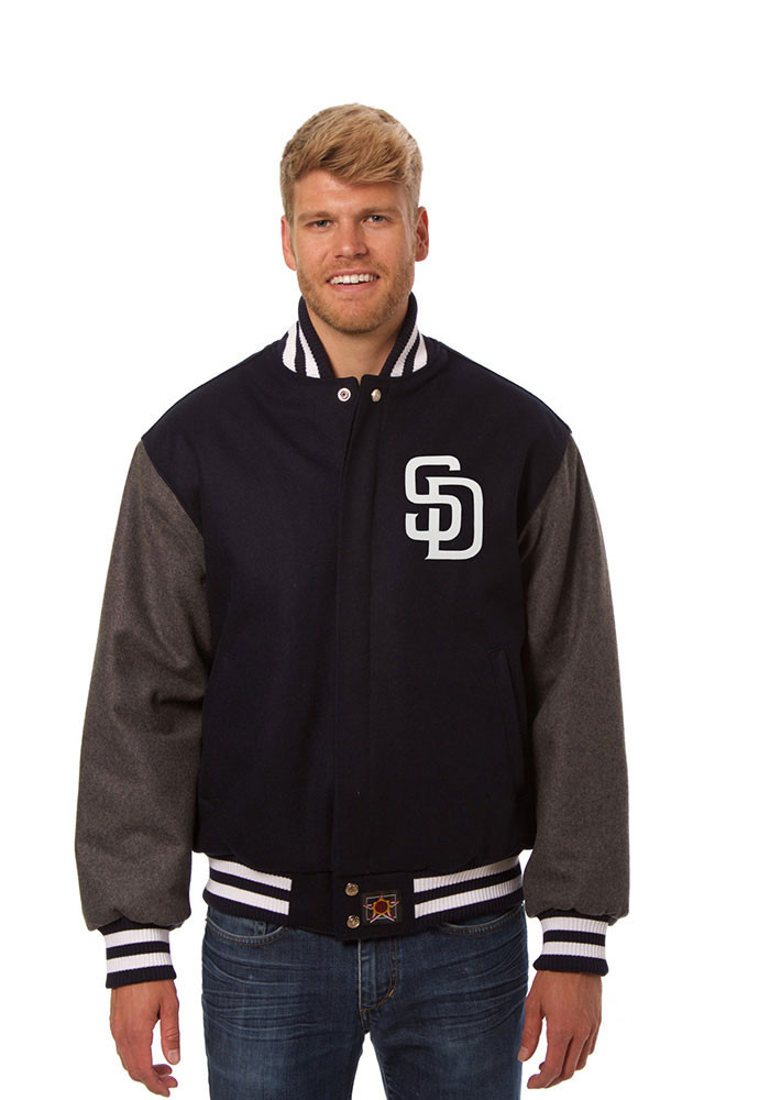 San Diego Padres Mens Blue all wool jacket Heavyweight Jacket - Image 1