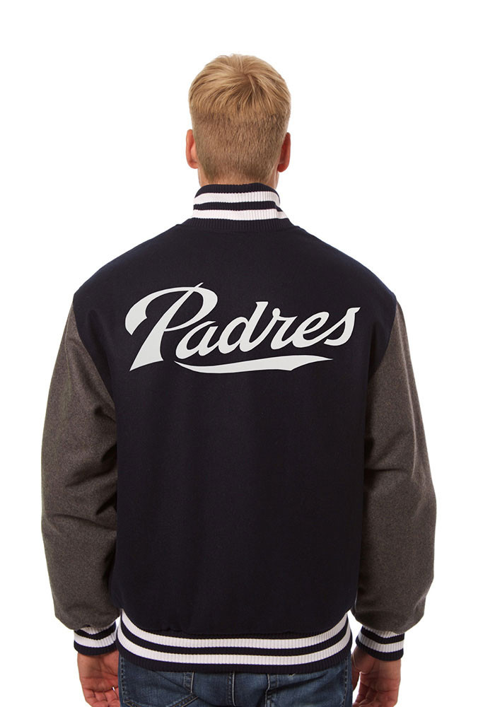 San Diego Padres Mens Blue all wool jacket Heavyweight Jacket - Image 2