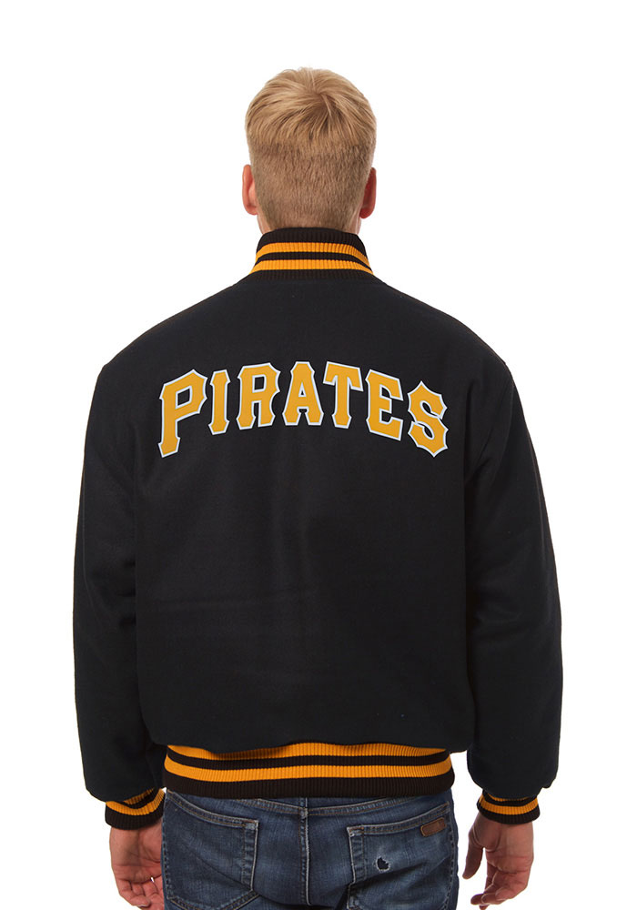 Pittsburgh Pirates Mens Black all wool jacket Heavyweight Jacket - Image 2