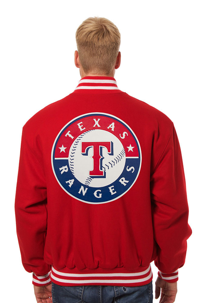 Texas Rangers Mens Red all wool jacket Heavyweight Jacket - Image 2