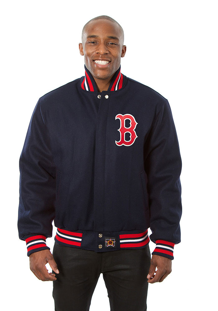 Boston Red Sox Mens Navy Blue all wool jacket Heavyweight Jacket - Image 1
