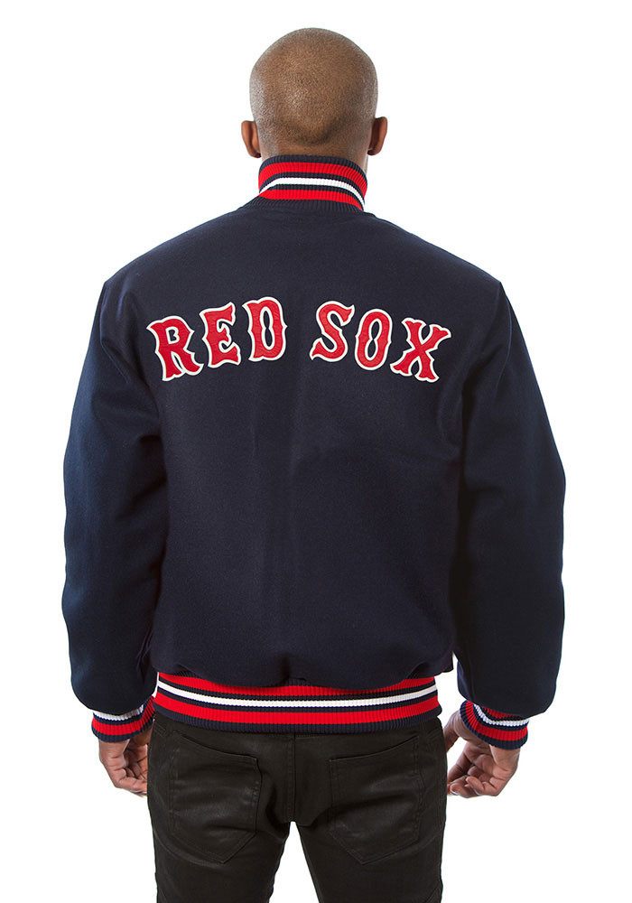 Boston Red Sox Mens Navy Blue all wool jacket Heavyweight Jacket - Image 2