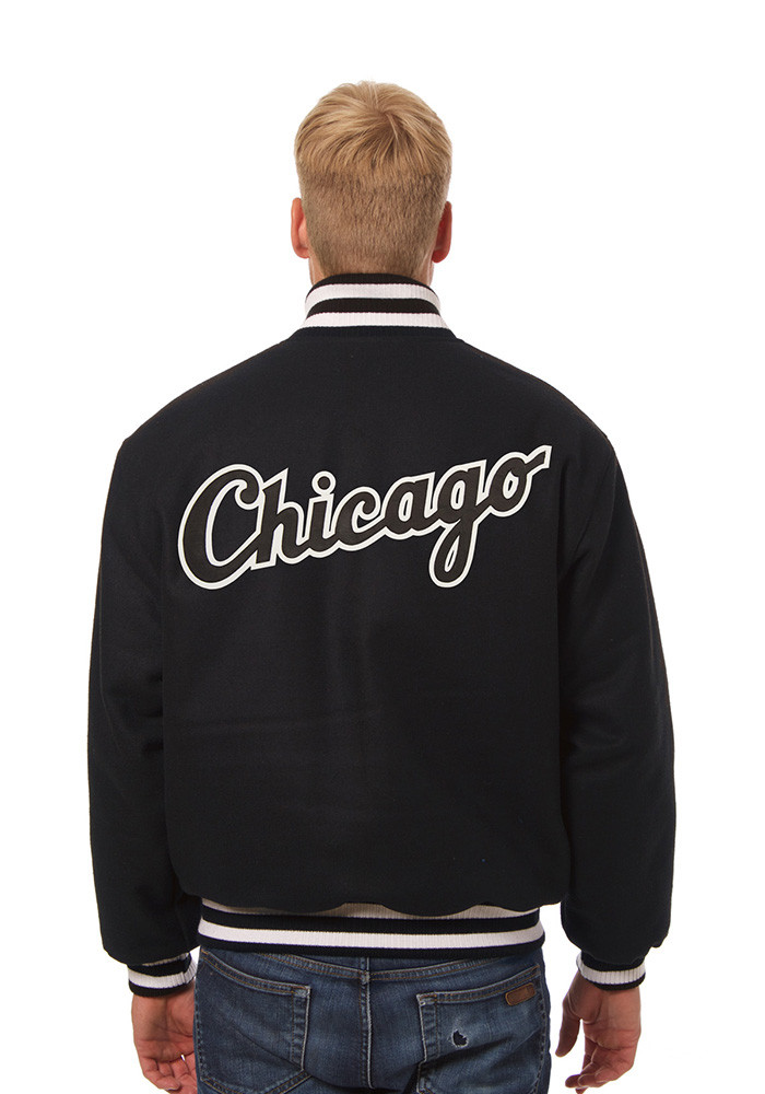 Chicago White Sox Mens Black all wool jacket Heavyweight Jacket - Image 2