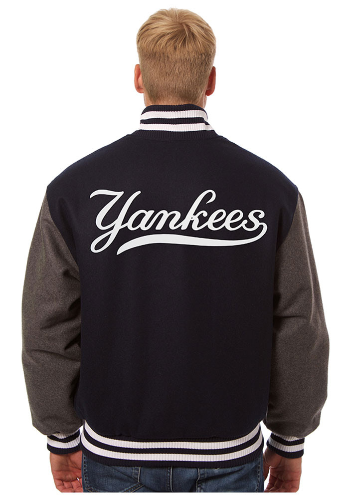 New York Yankees Mens Blue all wool jacket Heavyweight Jacket - Image 2