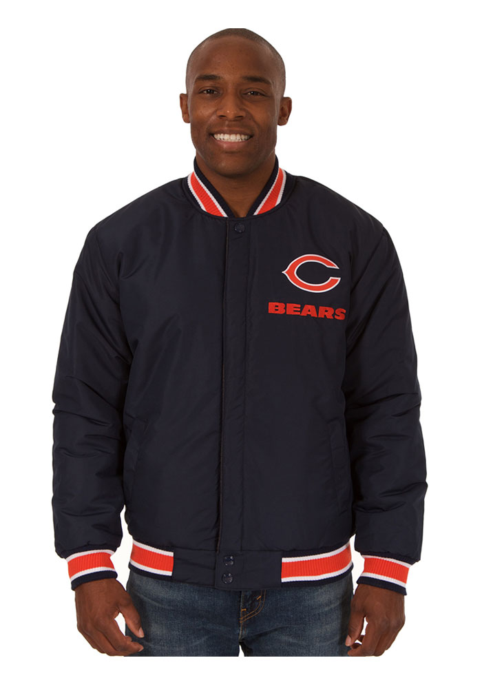 Chicago Bears Mens Grey Reversible Two-Tone Heavyweight Jacket - Image 2
