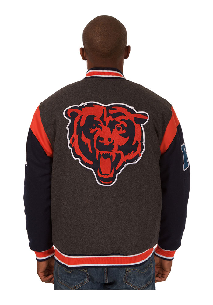 Chicago Bears Mens Grey Reversible Two-Tone Heavyweight Jacket - Image 3