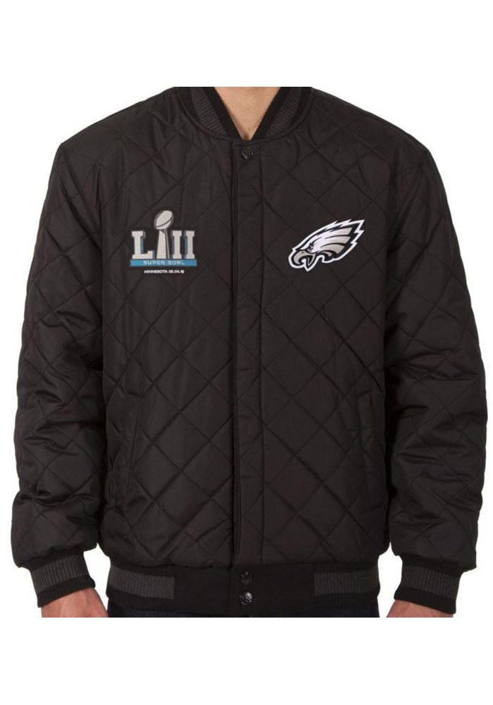Philadelphia Eagles Mens Grey Super Bowl Champs Heavyweight Jacket - Image 3