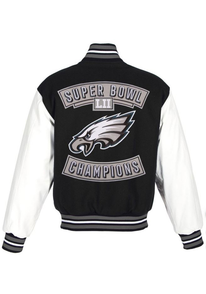 Philadelphia Eagles Mens Black Super Bowl Champs Heavyweight Jacket - Image 1