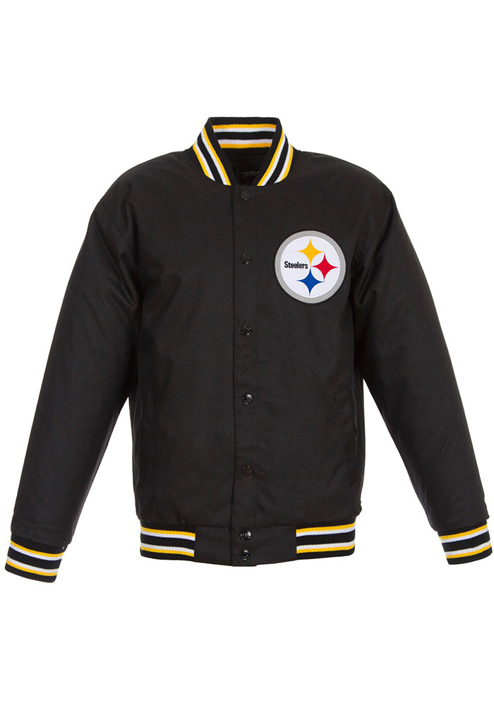 Pittsburgh Steelers Mens Black Game Time Heavyweight Jacket - Image 1