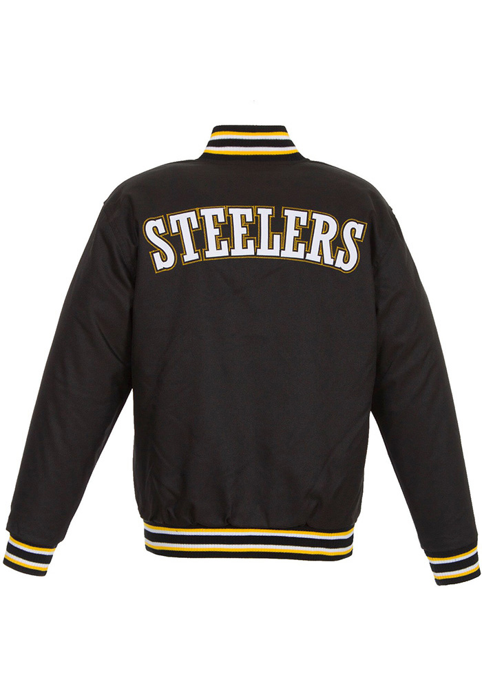 Pittsburgh Steelers Mens Black Game Time Heavyweight Jacket - Image 2