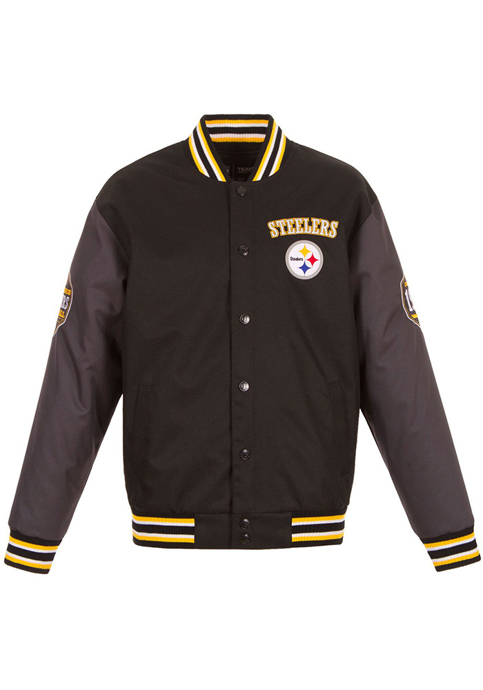 Pittsburgh Steelers Mens Black Game Changer Heavyweight Jacket - Image 1