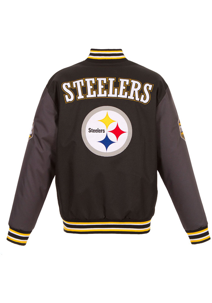 Pittsburgh Steelers Mens Black Game Changer Heavyweight Jacket - Image 2