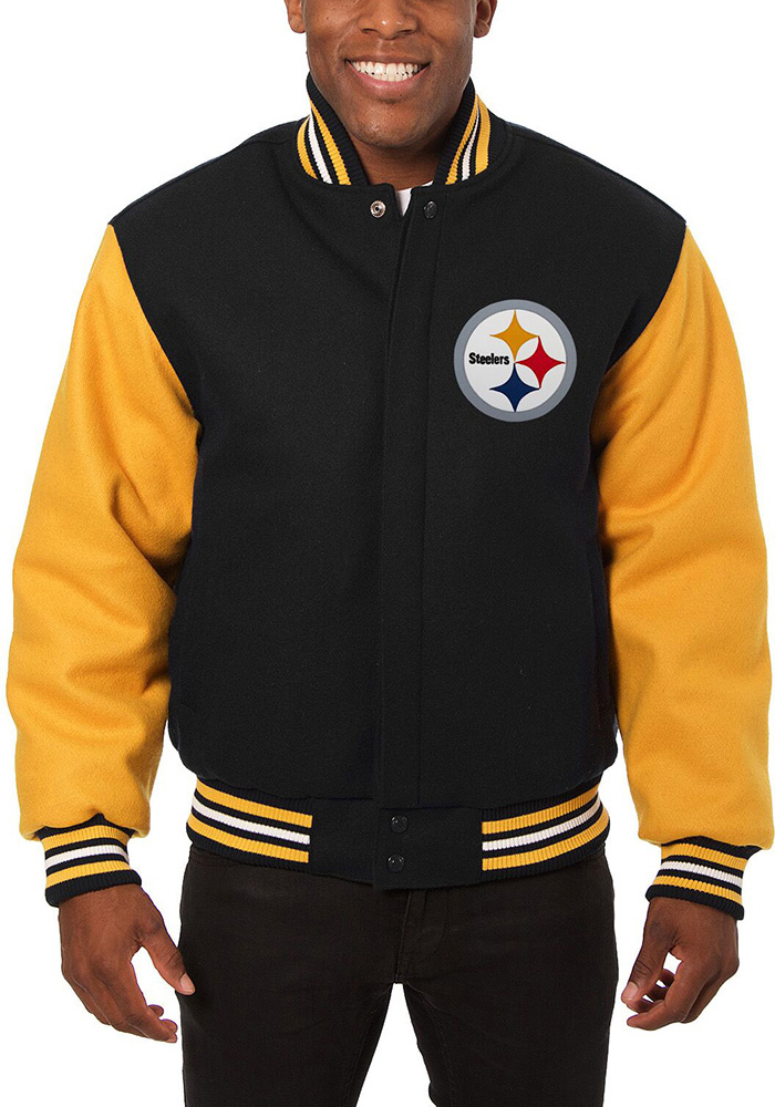 finest selection 2c36a 71dce Pittsburgh Steelers Mens Black Imprint Heavyweight Jacket