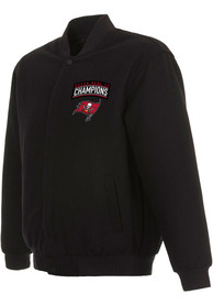 Tampa Bay Buccaneers Super Bowl LV Champions Wool Heavyweight Jacket - Black