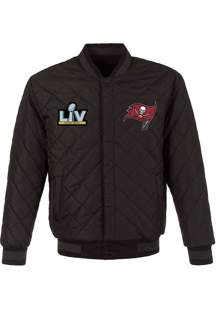 Tampa Bay Buccaneers Mens Black Super Bowl LV Champions Wool Leather Heavyweight Jacket - Image 3